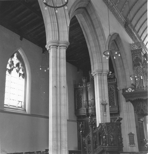 St John The Baptist Epping north aisle 16April1979 taken by  E G Lewis ESA21