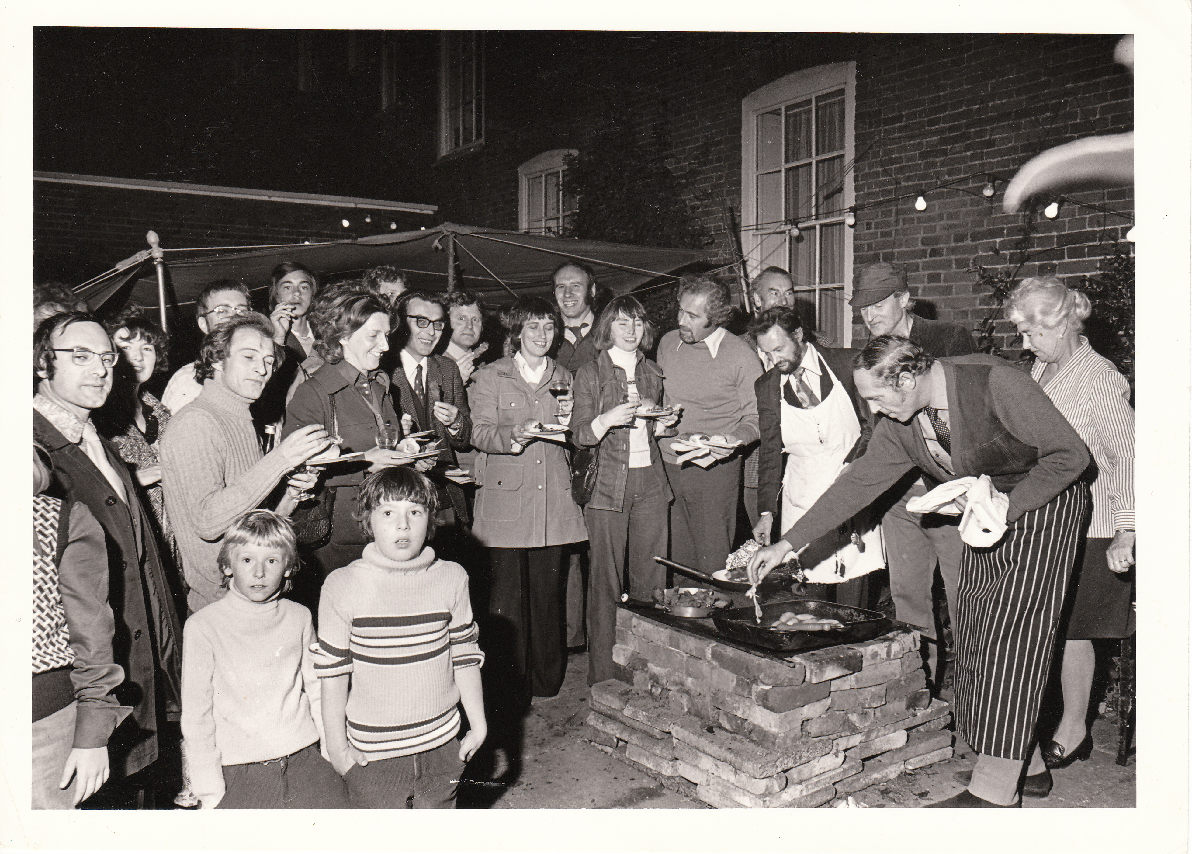 Barbecue at Winchelsea House September 1972
