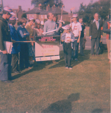 Protest at the original Stansted Expansion