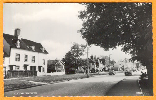 115 HIGH ST & FIRE STATION POSTCARD
