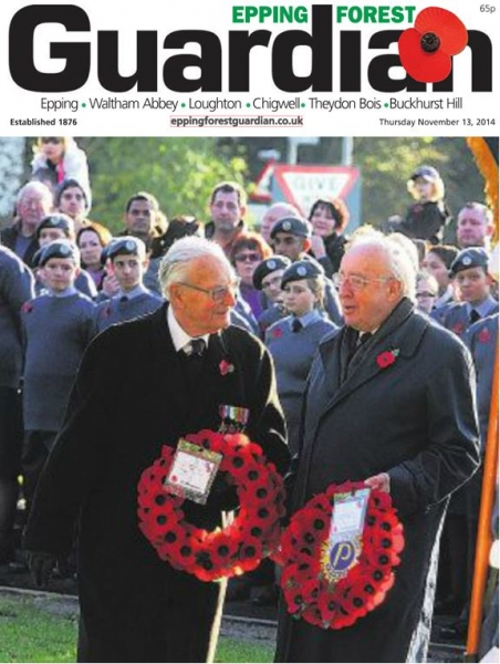 Epping Forest Guardian 13 November 2014 Denys Favre and David Yeadon