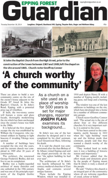 Epping Forest Guardian 18 December A church worthy of the community