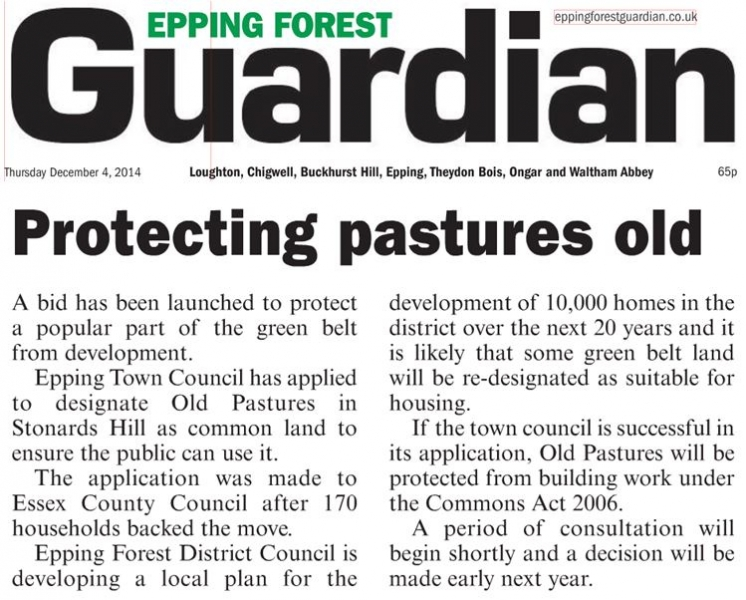 Epping Forest Guardian 4 December 2014 Protecting pastures old
