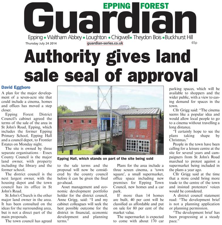 epping-forest-guardian-24-july-2014-authority-gives-land-sale-seal-of-approval-30fcb1b55480f862d44ddb8195216690f1865377