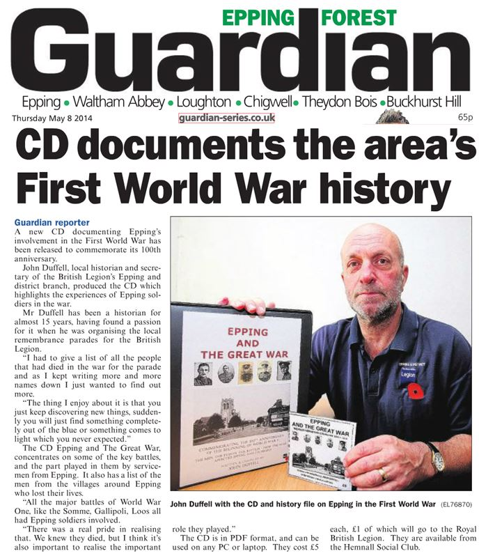 epping-forest-guardian-8-may-2014-first-world-war-cd
