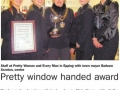 Epping Forest Guardian 11 December Pretty window handed award