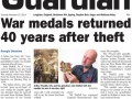 Epping Forest Guardian 27 November 2014 War medals returned 40 years after theft