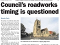 Epping Forest Guardian 4 December Councils roadworks timing is questioned