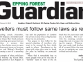 Epping Forest Guardian 5 February 2015 Traveller must follow same laws as rest