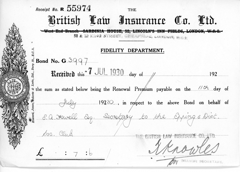 British Law Insurance Co Ltd 7July1930002