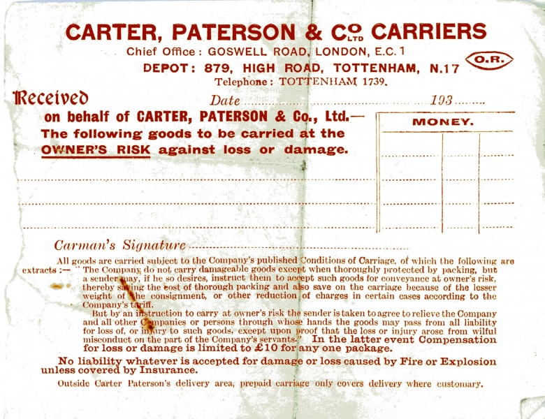 Carter Paterson _ Co 17 July 1933 002