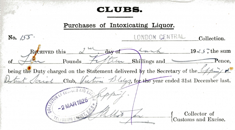 Clubs Purchase of Intoxicating Liquor 2 March 1925 001