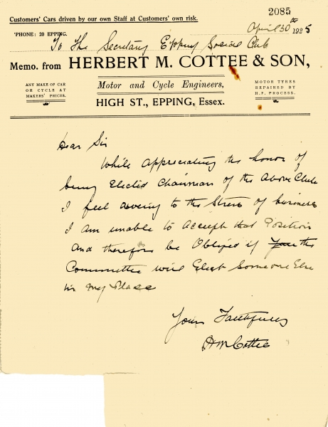 Cottee Herbert M _ Son 30 April 1925 001