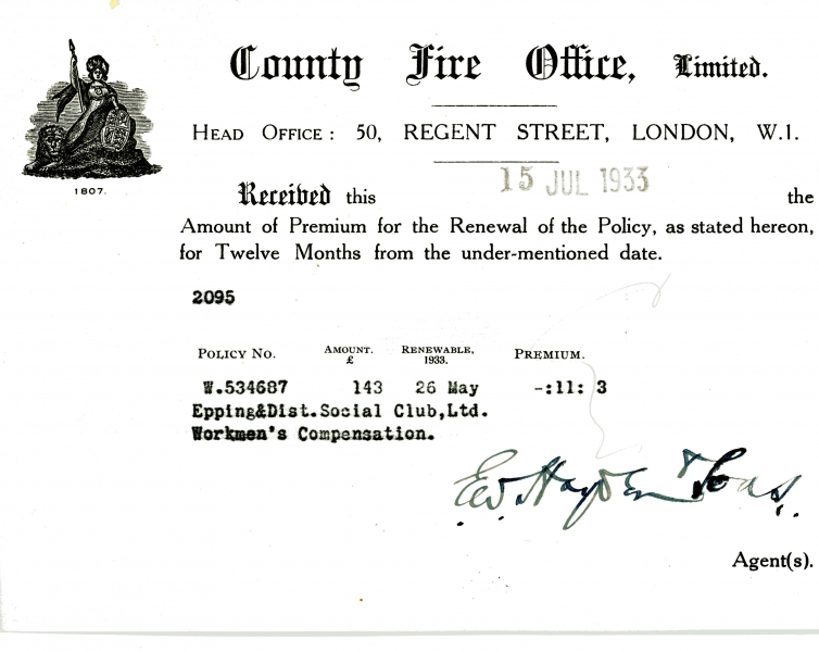 County Fire Office Limited 15 July 1933001