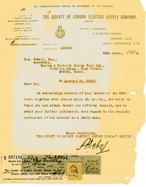 County of London Electric Supply Company Limited 28 Sept 1933001