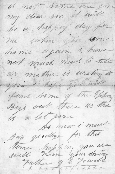 Fowell Ernest Arthur 1895-1992 letter receive Dec 1916 in army002