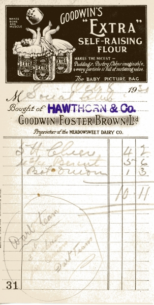 Hawthorn W _ Co on Goodwin Foster Brown Ltd paper 8 Oct 1930 004