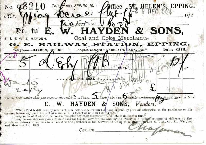 Hayden E W _ Sons 29 Dec 1924 001
