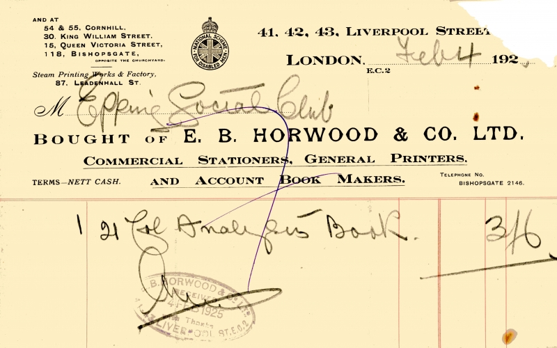 Horwood E B _ Co 4 Feb 1925 001