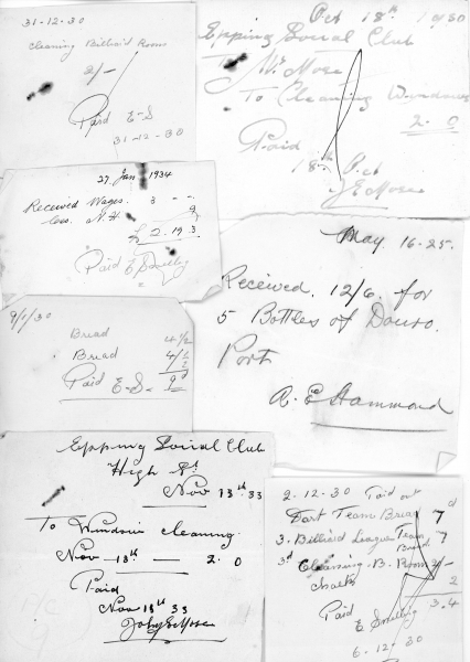 Petty cash receipts 1925 - 1934 001