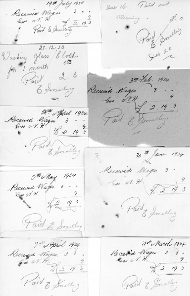Petty cash receipts 1925 - 1934 003