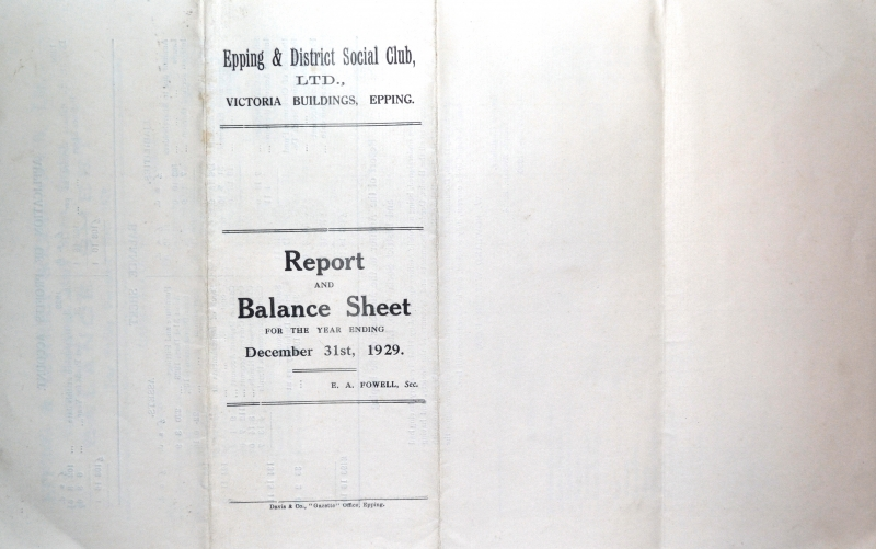 Report _ Balance Sheet 31 Dec 1929 cover