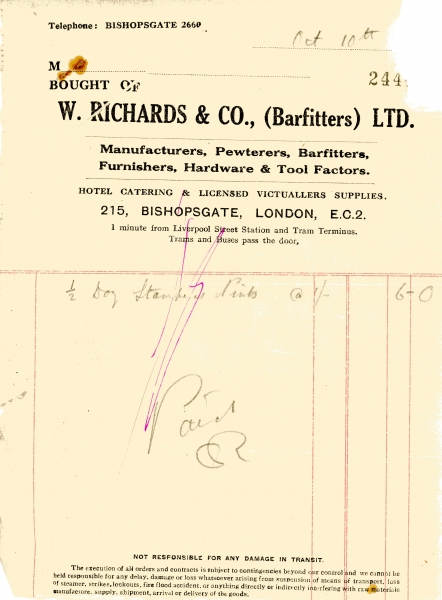 Richards W _ Co Ltd undated001