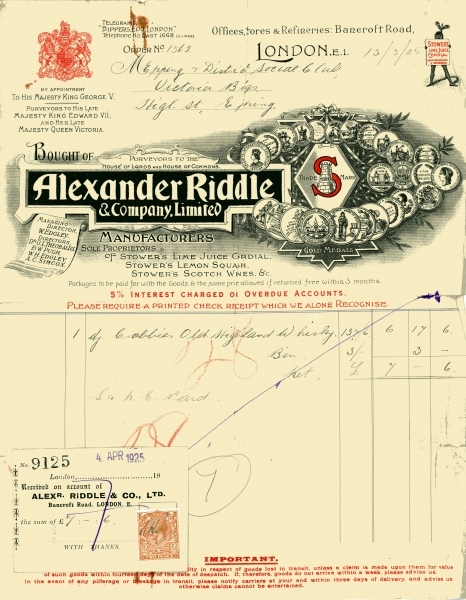 Riddle Alexander _ Co Ltd 13 March 1925 001
