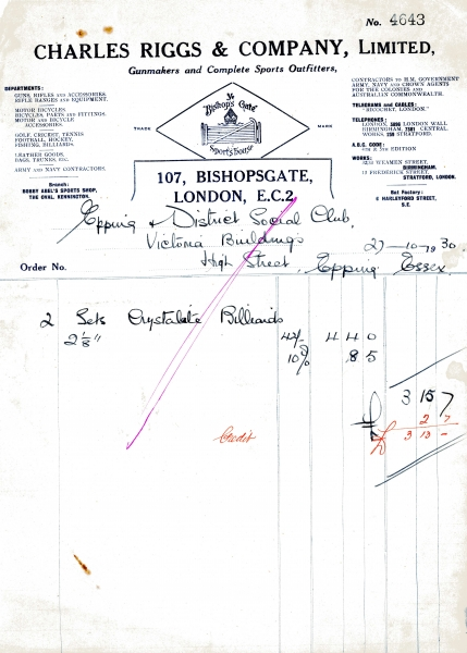 Rigg Charles _ Co Ltd 27 Oct 1930 001