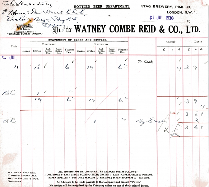 Watney Combe Reid _ Co Ltd 31 July 1930 004