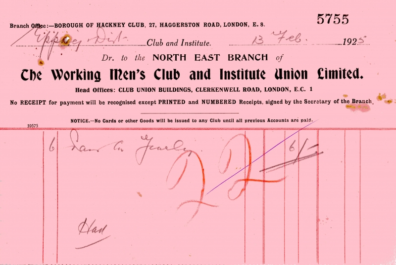 Working Mens Club _ Institute Union Ltd 13 Feb 1925 001