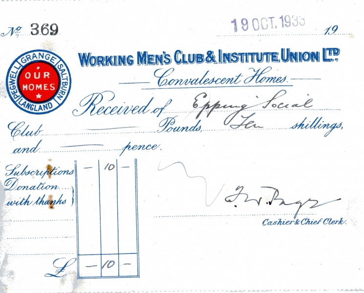 Working Mens Club _ Institute Union Ltd 19 Oct 1933 004