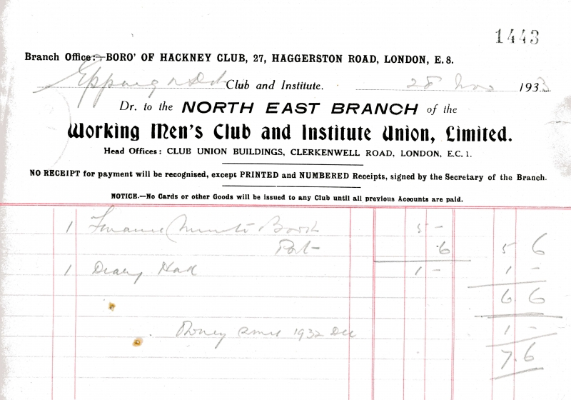 Working Mens Club _ Institute Union Ltd 28 Nov 1933 003
