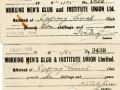 Working Mens Club _ Institute Union Ltd receipts 1925 - 1934 001