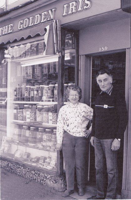 Barbara and Eddie Roskams outside the Golden Iris