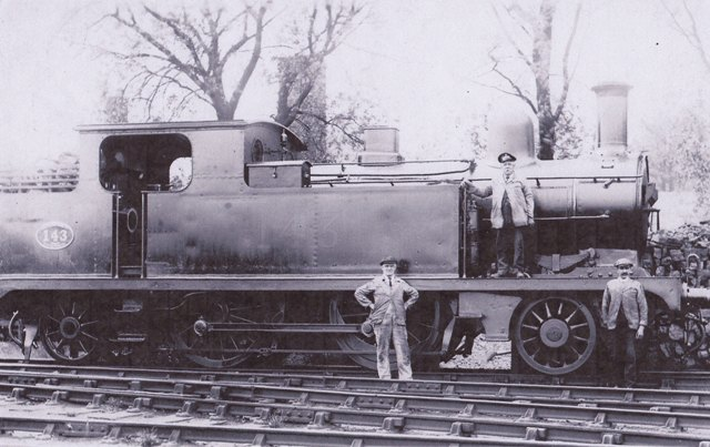 A steam train at Epping Station