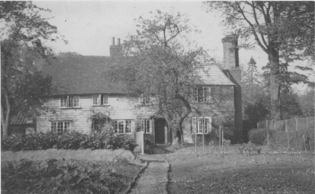 Bury Lane Epping Apple Tree Cottage post card hand written on back -about 1940 before alterations - stamped N138 ESA16