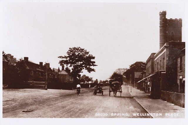 Epping High Road by the water tower