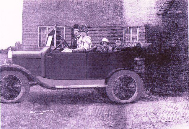 Padfield family in car
