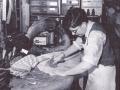 Bob Cuthbert working at Batchelors Saddlery