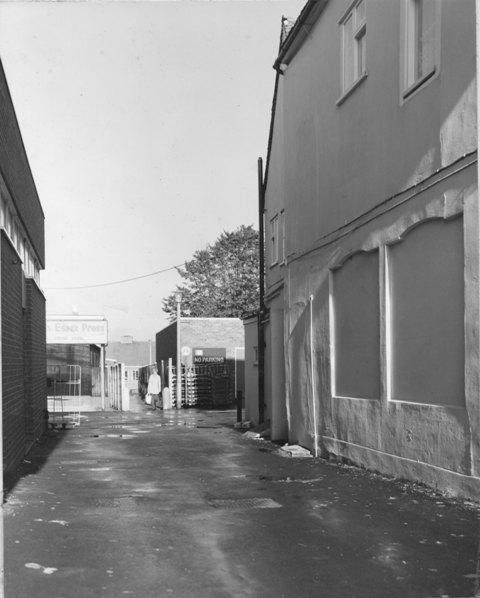 237 High Street Epping Garden Terrace Passage M&S to the left Greggs to the right  Stuart Turner 1975 30