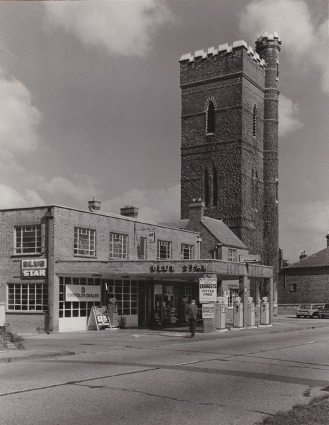 33 High Street Epping Blue Star Garage Petrol and water tower now Gates Ford Stuart Turner 1975 1
