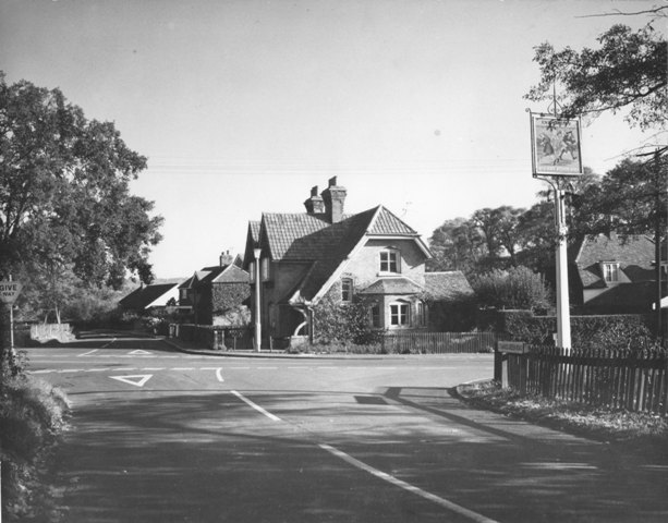 Coopersale Street, Epping The Merry Fiddlers Pub Coopersale junction with Stewards Green Road Stuart Turner  1973 77