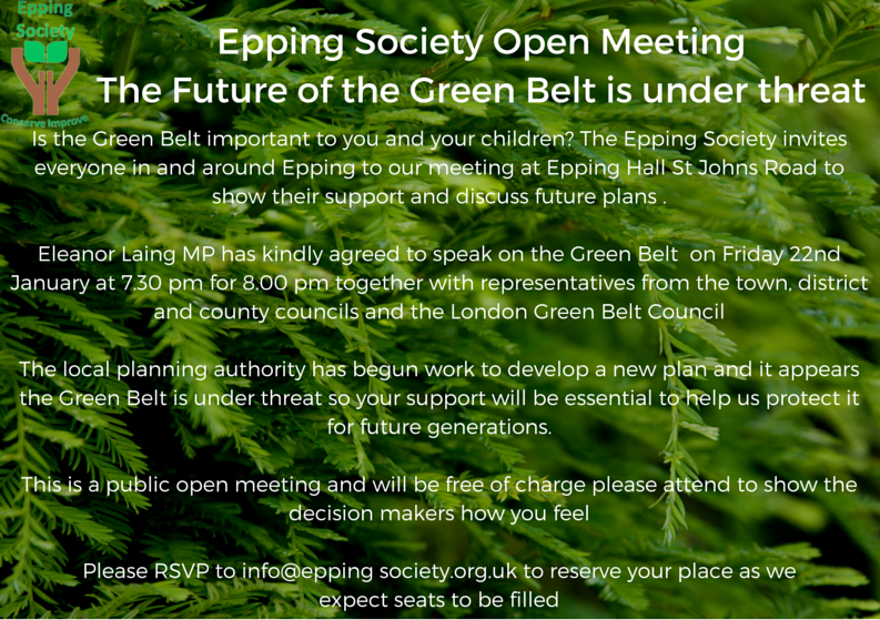 Open Meeting 22nd January 2016